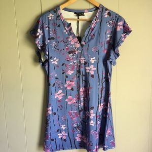 Lily by Firmiania • Periwinkle Floral Tunic Dress